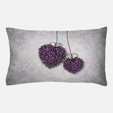 Purple Hearts Pillow Case