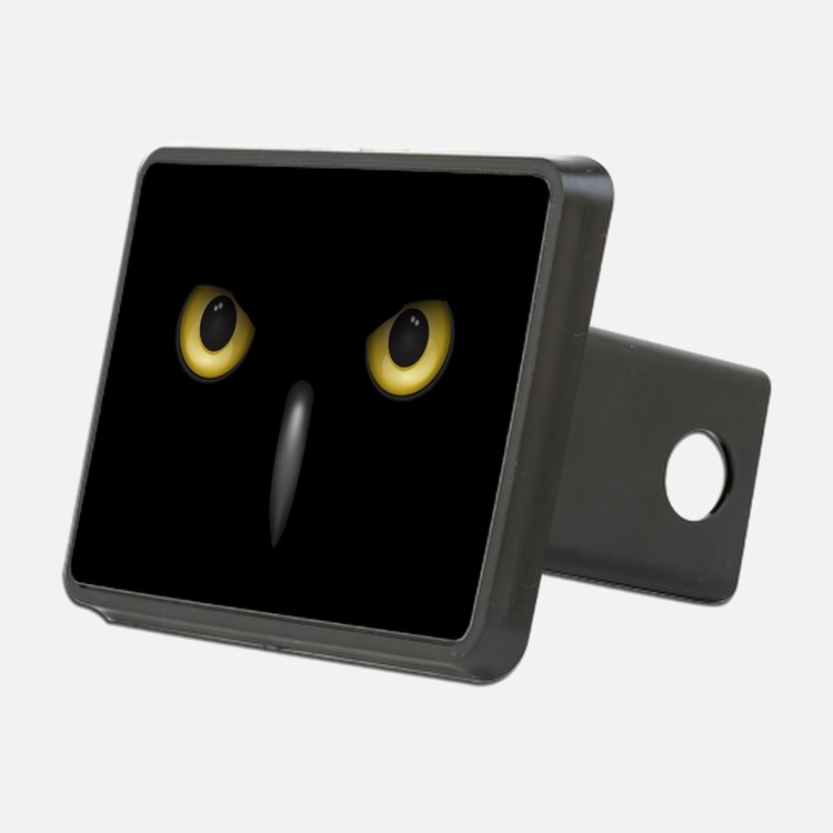 Owl Eyes Lurking In The Dark Hitch Cover