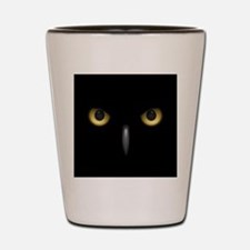 Owl Eyes Lurking In The Dark Shot Glass