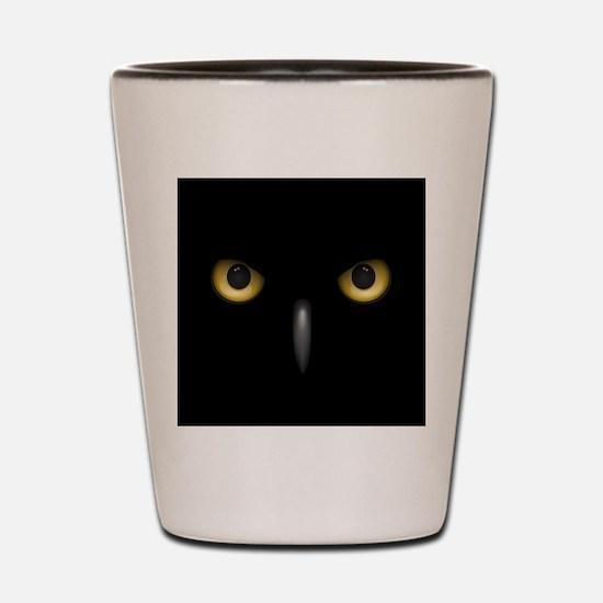 Owl Eyes Lurking In The Dark Shot Glass