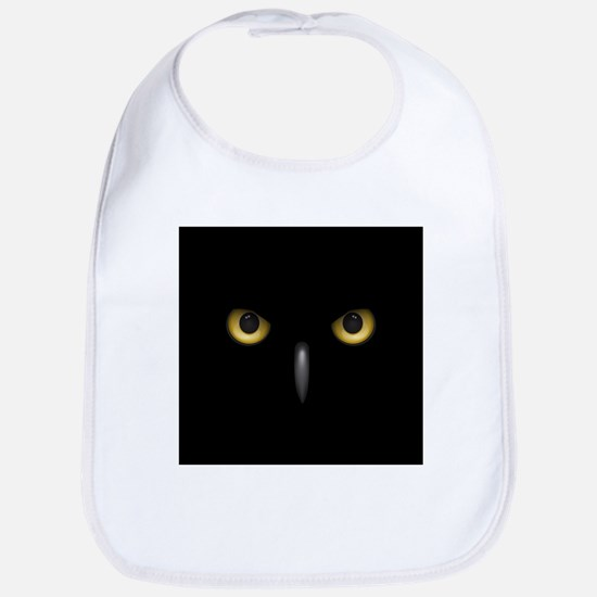 Owl Eyes Lurking In The Dark Bib