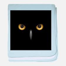 Owl Eyes Lurking In The Dark baby blanket