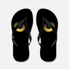 Owl Eyes Lurking In The Dark Flip Flops