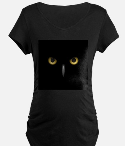 Owl Eyes Lurking In The Dark Maternity T-Shirt