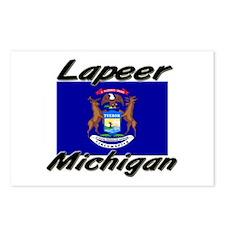 Lapeer Michigan Postcards (Package of 8)