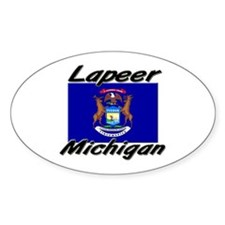 Lapeer Michigan Oval Decal