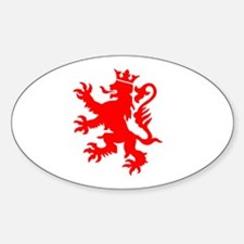 lion luxembourg crown Decal