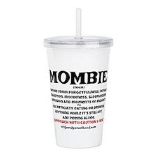 MOMBIE WINE QUOTE Acrylic Double-wall Tumbler