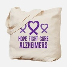 Alzheimers Hope Fight Cure Tote Bag