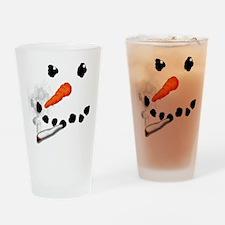 Bad Snowman Drinking Glass