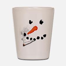 Bad Snowman Shot Glass