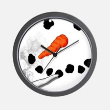 Bad Snowman Wall Clock