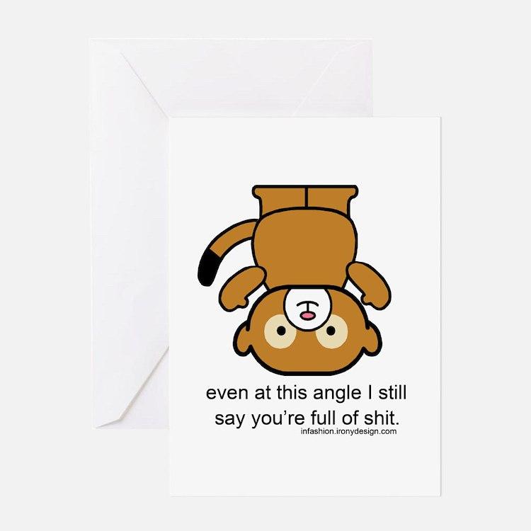 Happy Monkey - Full of Shit Greetin Greeting Cards