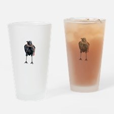 Cute Crows before hoes Drinking Glass