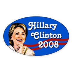 Hillary Clinton 2008 Oval Bumper Decal