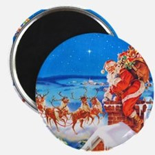 "Santa and His Reindeer Up 2.25"" Magnet (100 pack)"