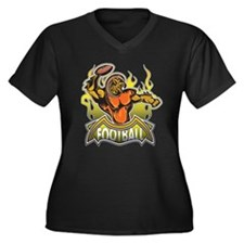 Fantasy Football Player Women's Plus Size V-Neck D