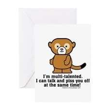 Multi-Talented Monkey Greeting Cards