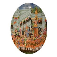 Mughal Procession Oval Ornament
