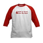 Halloween Meat Kids Baseball Jersey