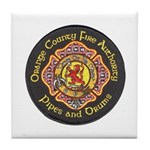 Orange County FD Pipes & Drum Tile Coaster