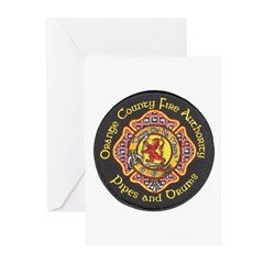 Orange County FD Pipes & Drum Greeting Cards (Pk o