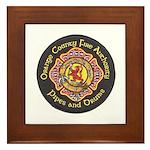 Orange County FD Pipes & Drum Framed Tile