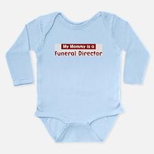 Cute Funeral director Long Sleeve Infant Bodysuit