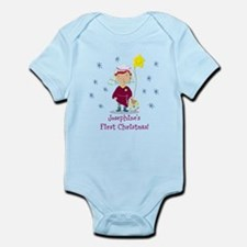Personalised Daisy And Teddy First Christmas Body