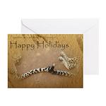 Happy Holidays Cheetah Tails 10 Pk Greeting Cards