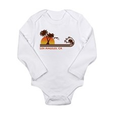 Cute Los angeles california Long Sleeve Infant Bodysuit