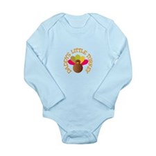 Letters Long Sleeve Infant Bodysuit
