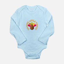 Cute Turkey bird Long Sleeve Infant Bodysuit
