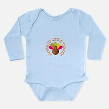 Cute Mommy%2527s little turkey Long Sleeve Infant Bodysuit