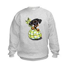 Unique Black white dog art Sweatshirt