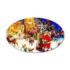 Santa and Mrs. Claus At The Wall Decal