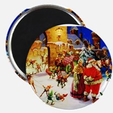 "Santa and Mrs. Claus At The 2.25"" Magnet (10 pack)"