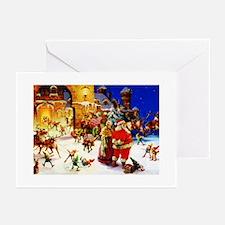Santa and Mrs. Claus At Greeting Cards (Pk of 20)