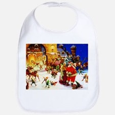 Santa and Mrs. Claus At The North Pole on Chri Bib
