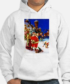Santa and Mrs. Claus At The Nort Hoodie