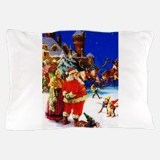 Santa and Mrs. Claus At The North Pole Pillow Case