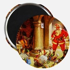 "Santa Claus Baking Christma 2.25"" Magnet (10 pack)"