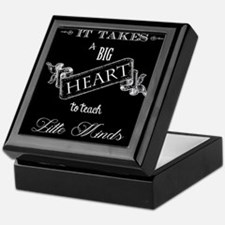 Big Heart Teacher Keepsake Box