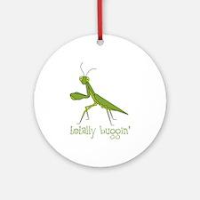 Totally Buggin Round Ornament
