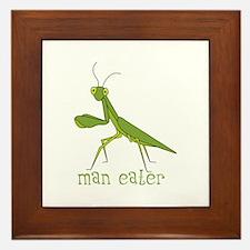 Man Eater Framed Tile