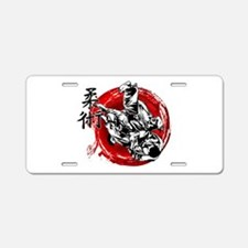 Jujitsu Aluminum License Plate