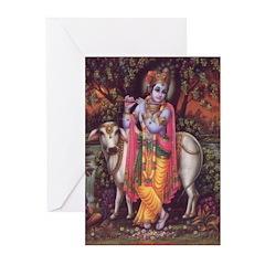Krishna 3 Greeting Cards (Pk of 20)