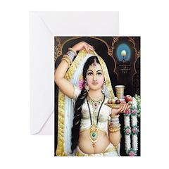Pujarini (Bengali) Greeting Cards (Pk of 20)
