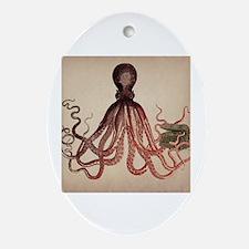 Cute Sea life Oval Ornament