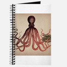 Vintage Octopus on Aged Parchment Journal